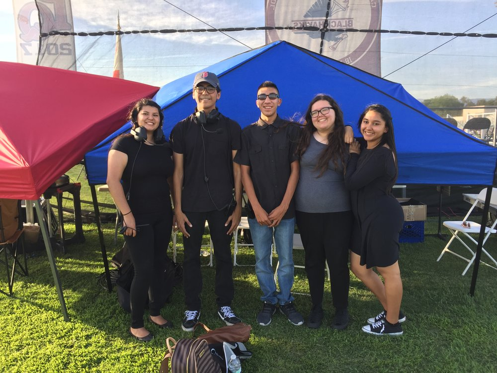 Impact KIHS Broadcasting students prepare for the La Quinta High School graduation stream