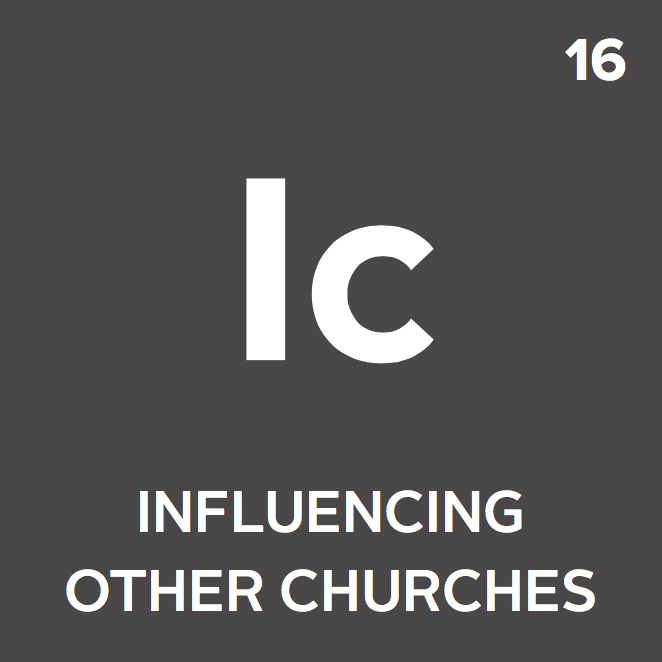 The church influences other churches in sending by sharing experiences, resources, and/or opportunities for partnership.