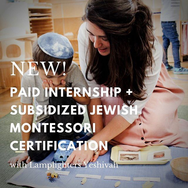 Calling all Crown Heights educators! Here's an incredible opportunity, if you just so happen to want to take your teaching practice to the next level by getting your Montessori certification, and love Lamplighters... Join our Lamplighters Internship Program, which includes: - A 2.5 week in-person training at Lamplighters Yeshivah - 19 Month Online Training - A part time paid internship at Lamplighters Yeshivah for the school year (an internship is required by the Center for Guided Montessori Studies for the complete certification) - Up to a $5,000 scholarship for the program (This program is a joint project of the Center for Guided Montessori Studies and Lamplighters Yeshivah, and is MACTE certified)  ONLY 4 LL INTERNSHIP SPOTS AVAILABLE. DEADLINE TO APPLY IS MARCH 31.  Email or call Sara At Lamplighters for more information! sara@lamplightersyeshivah.com | 718.355.9138  Help us spread the word! Tag people you think might be interested!