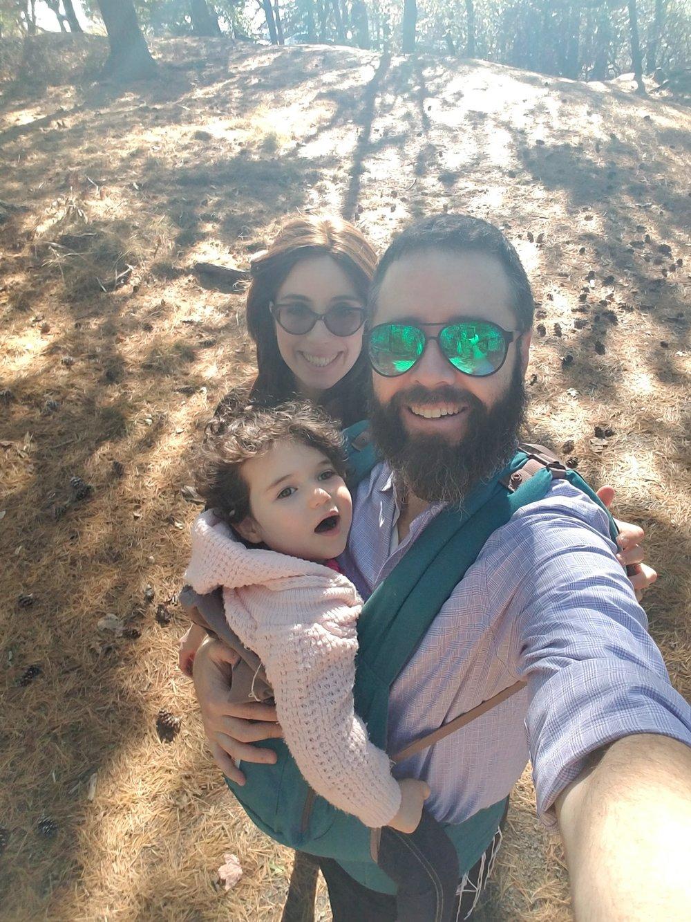 Enjoying a fall hike with Charna Alexandra