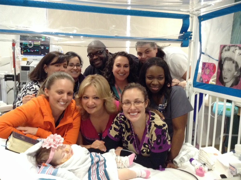 Charna with her wonderful medical team at Maimonides Hospital