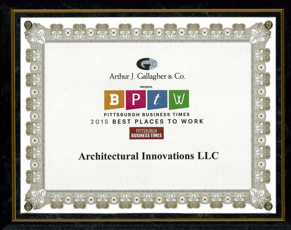 Pbt best places architectural innovations 2015 best places to work pittsburgh business times jeuxipadfo Image collections