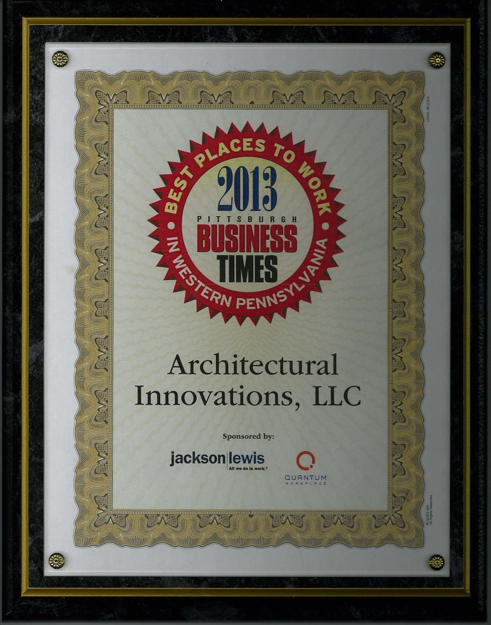 Pbt best places architectural innovations 2013 best places to work pittsburgh business times jeuxipadfo Image collections