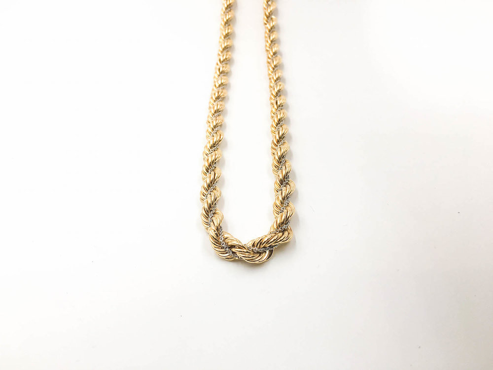 Our rope chain. Also long and wide like Carl's. (Click on image to view in our store)