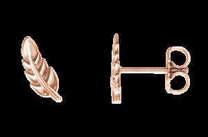 14K Rose Gold Leaf Climber Earrings