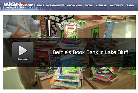 WATCH  WGN CHICAGO''S STORY ON BERNIE'S BOOK BANK