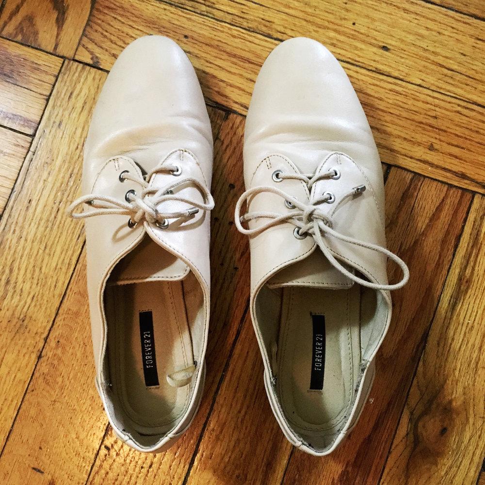 Tan Oxford Sneakers, $20