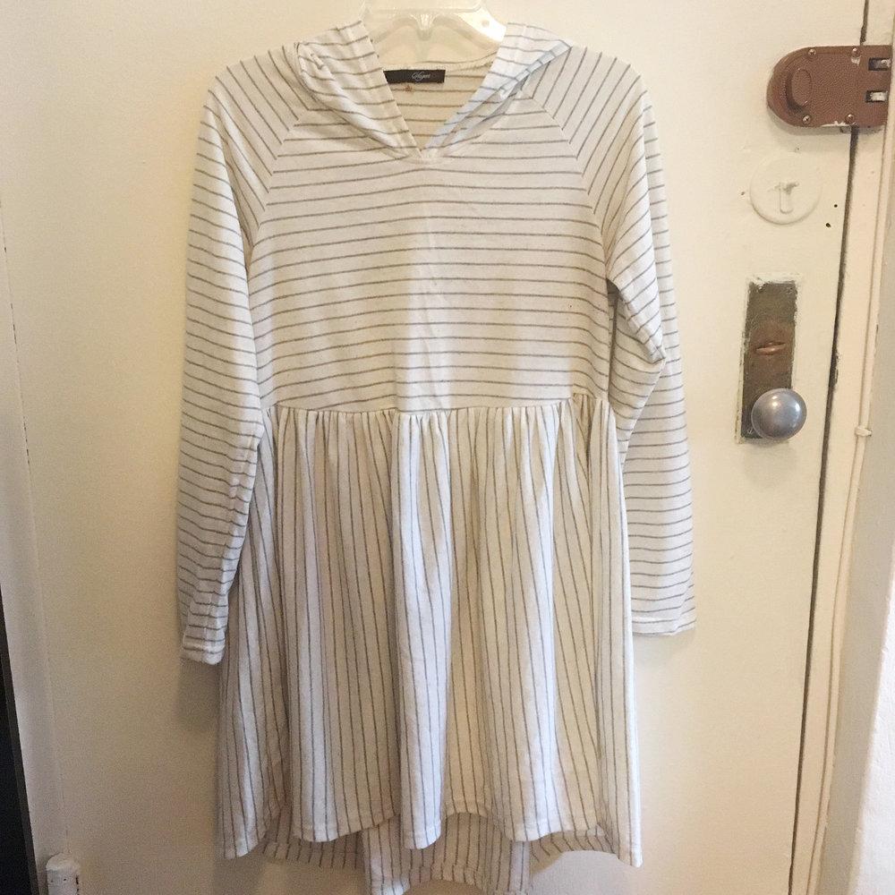 Striped Sleeve Dress, $20