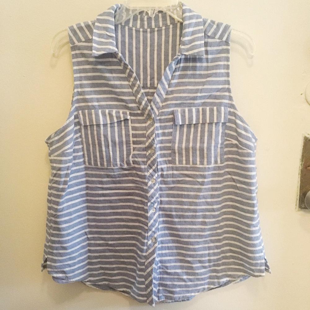 Striped Button Tank, $20