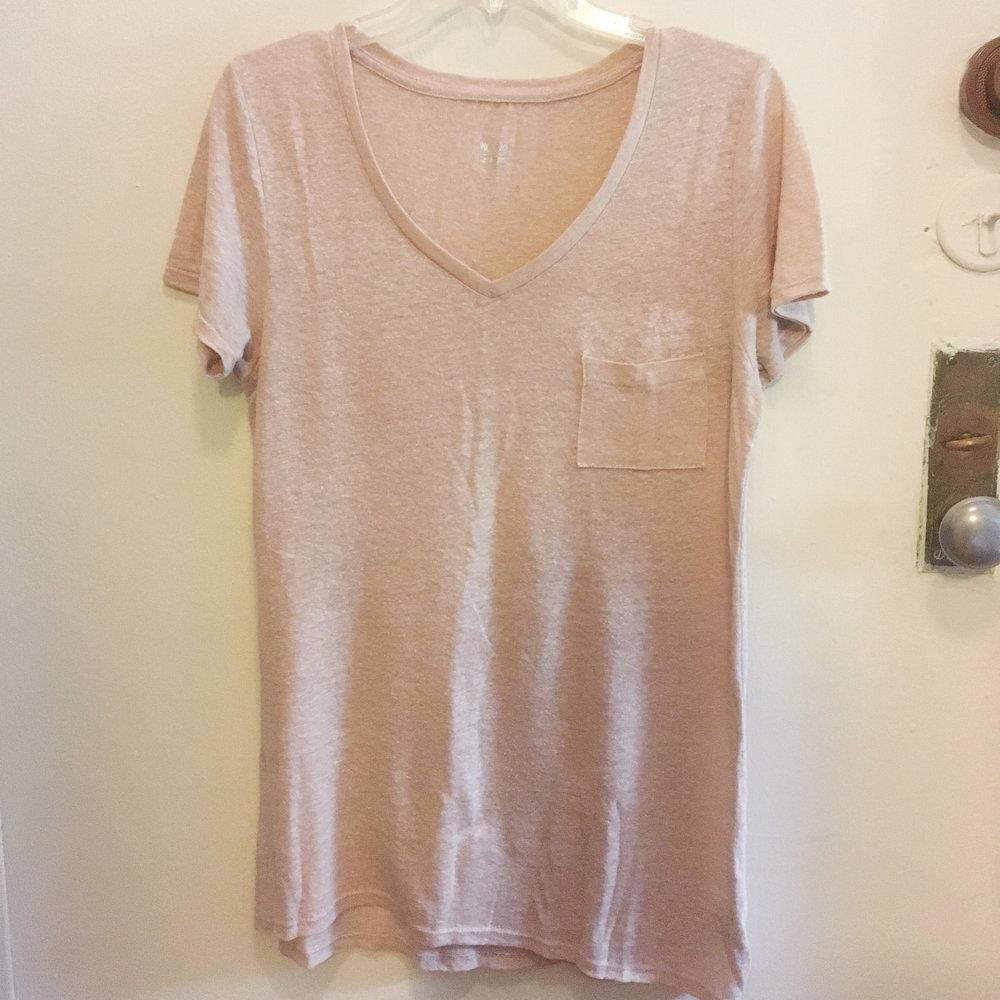 Pink V-Neck, $5