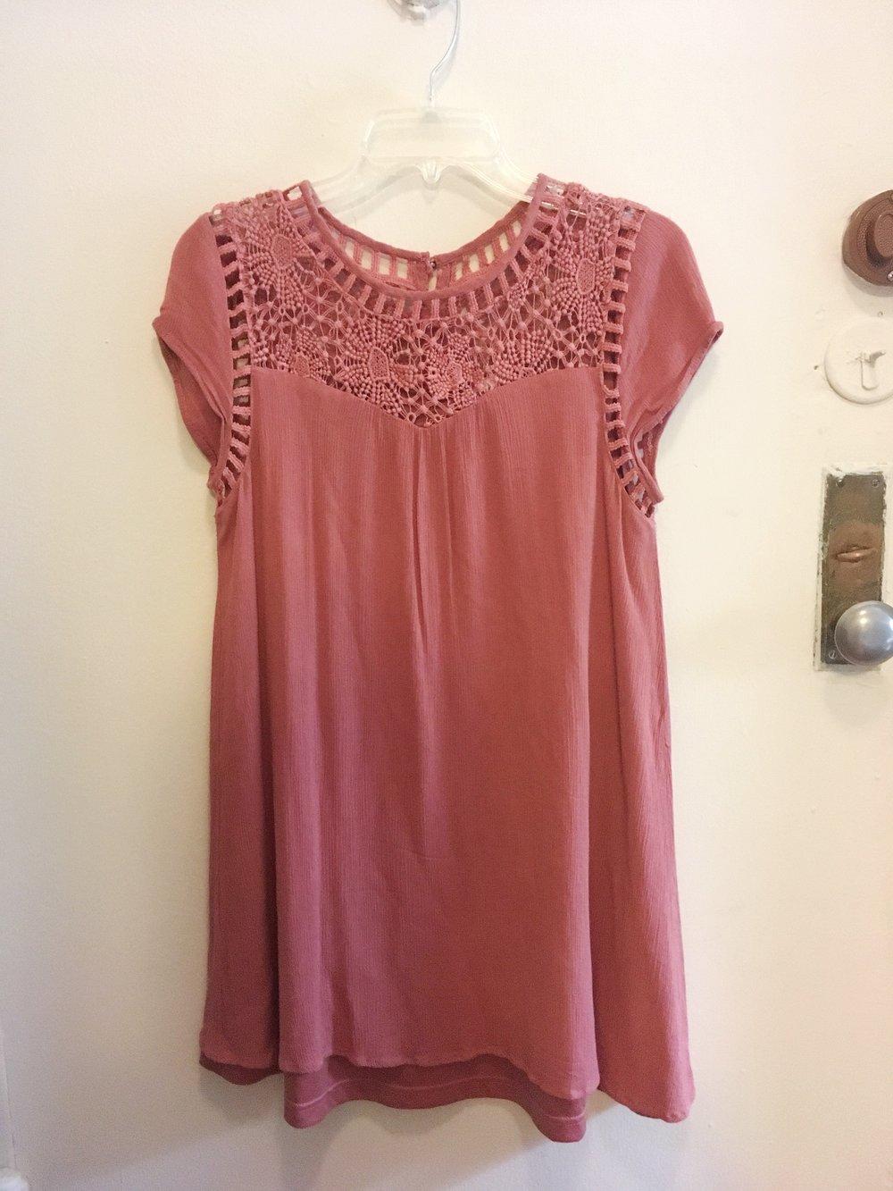 Lace Pink Dress, $15