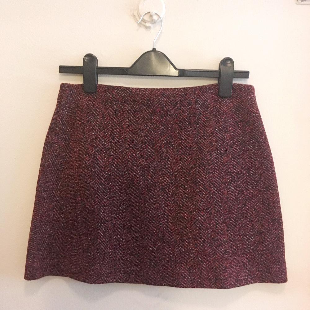 Maroon Mini Skirt, $30