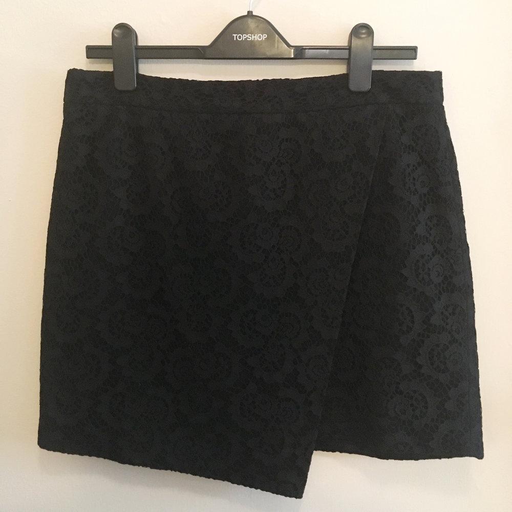 Lace Mini Skirt, $40