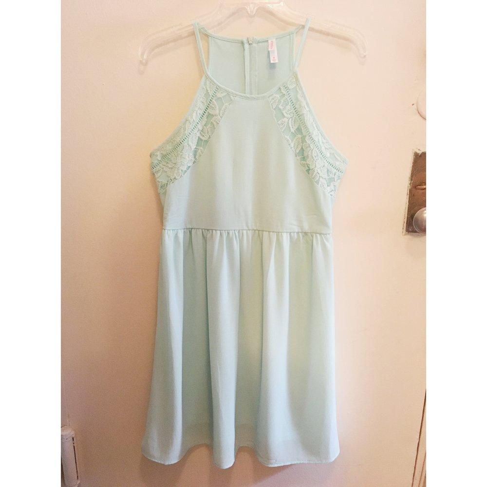 Blue A-Line Dress, $15