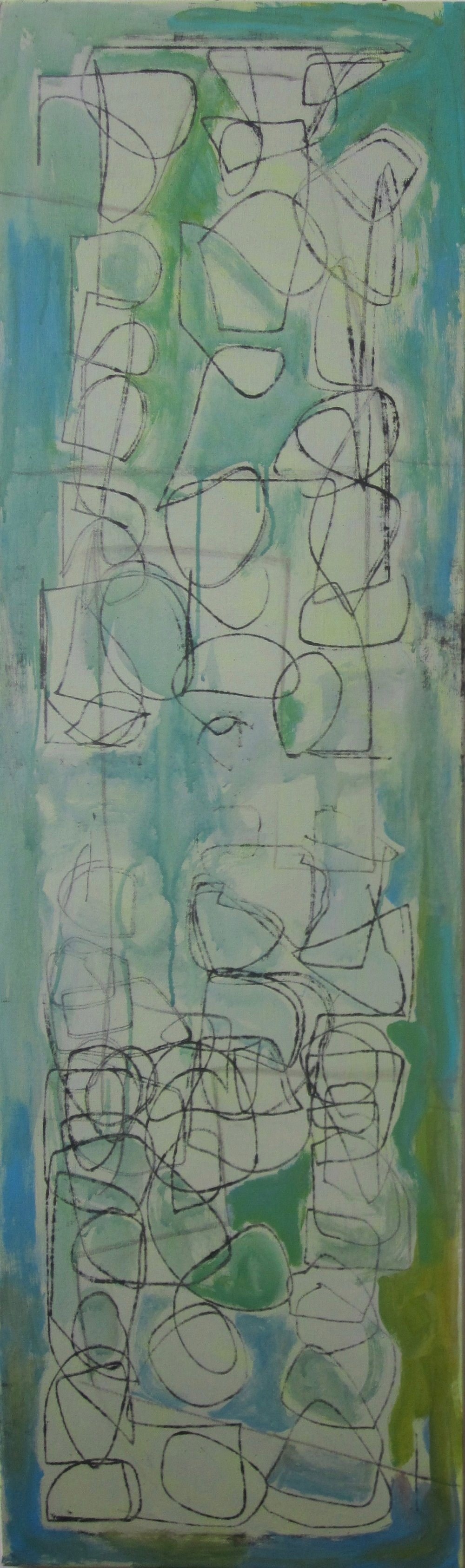 Monotype w/Green & blue