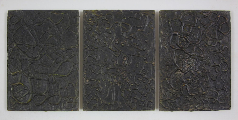 Triptych with Graphite