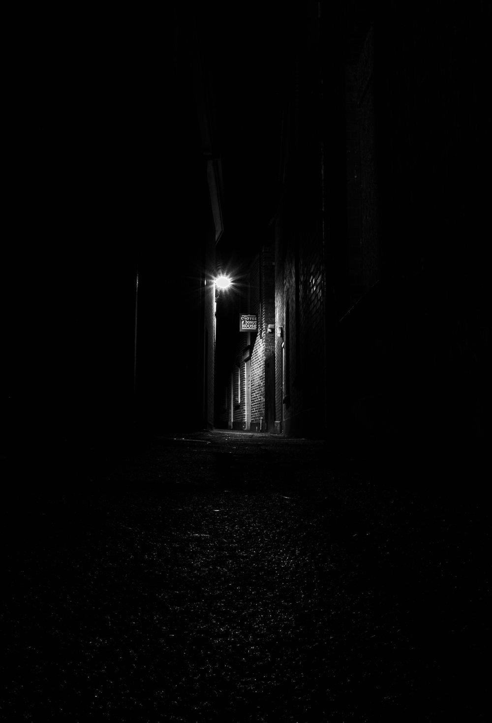 Truro side street bw dark single light.jpg