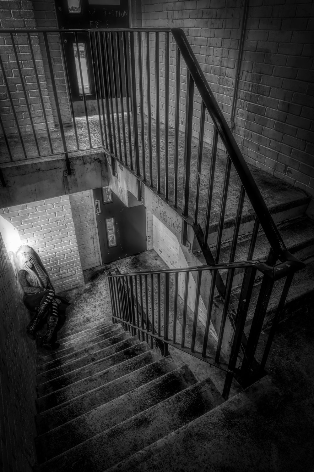 In the Stairwell