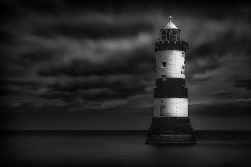 Slow exposure lighthouse BW flickr.jpg