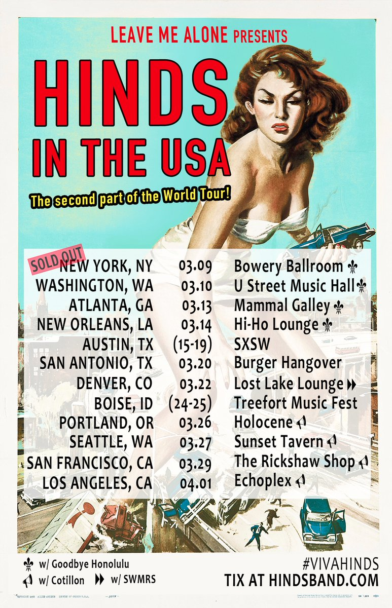 Hinds Brings Their World Tour To The States MomPop - Tour of the states