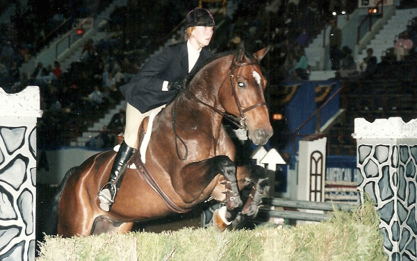 With Grappa, competing in the junior national finals