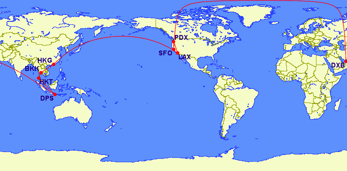 This is the path of the long flights.