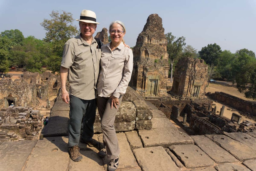 Grandpa and Grandma at one of the Angkor temples which are a World Heritage Site.