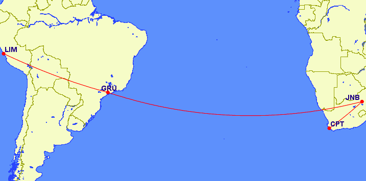 Lima, Peru to Cape Town, South Africa
