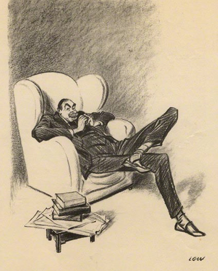 Keynes caricature in Stalin-Wells Talk by David Low, 1934. Public domain via Wikimedia Commons