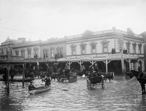 Whanganui River Flooding, Whanganui, NZ, 1904
