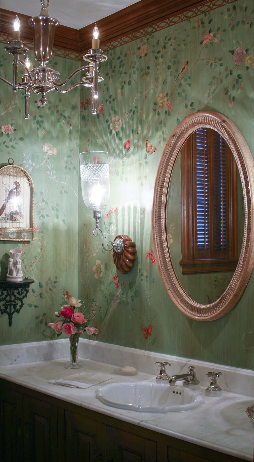 Decorative Powder Room Mural