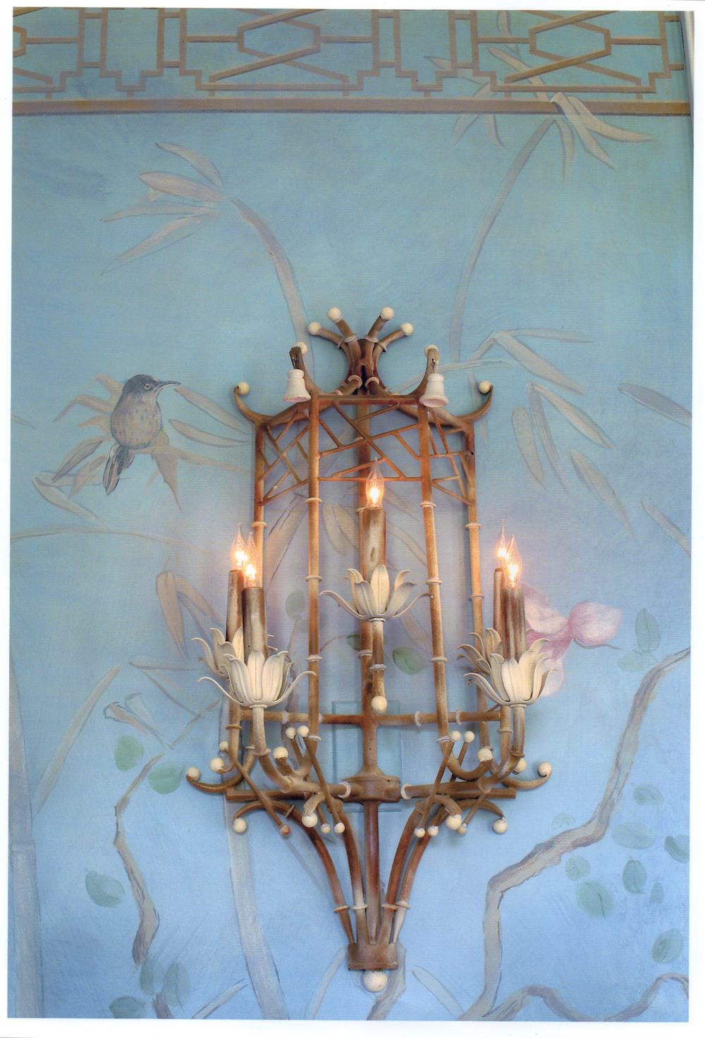 Chinoiserie Dining Room Mural