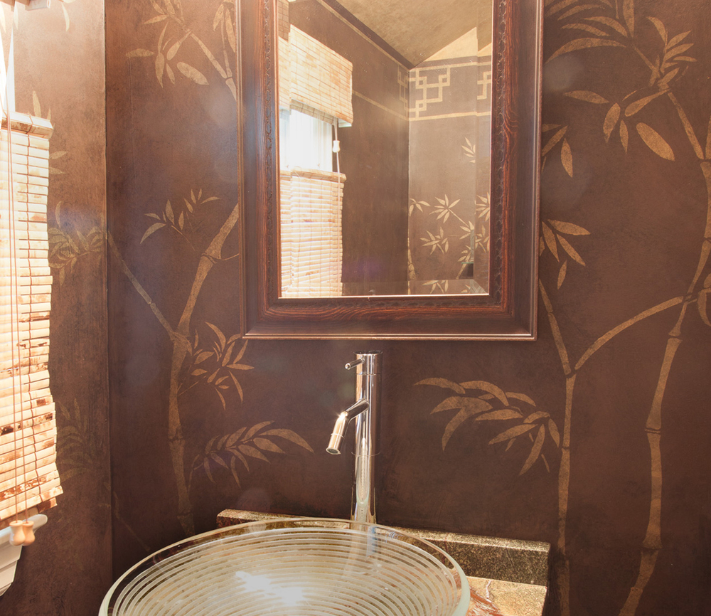 Powder Room Stencil