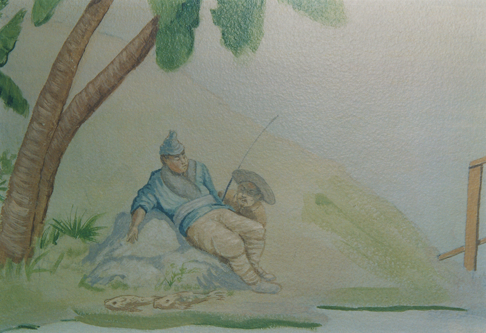 Chinese Landscape Mural - Detail