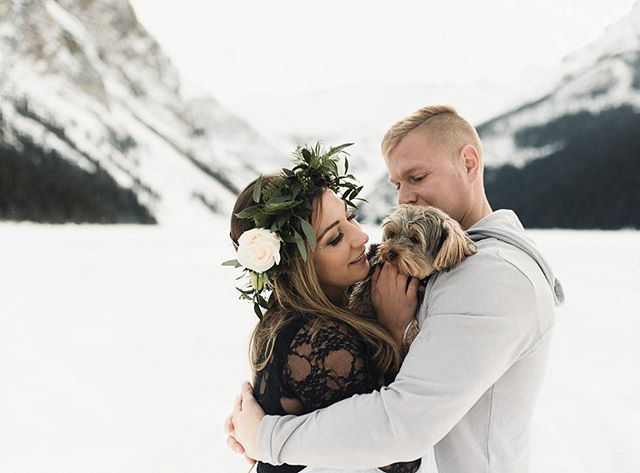 I had a blast with this newly engaged couple (I saw the video of the proposal in Thailand 😳) and Lady, the tiny Yorkie. It was a beautiful early spring day and the thaw is on in the mountains. Who loves pets at shoots?  #gingersnapphotography . . . . . #engagementsession #engagementring #puppylove #photobugcommunity #creativenetworkarc #explorealberta #explorebanff #lakelouise #morainelake #yyc #calgaryweddingphotography #yycweddings #mountainweddings #lakelouiseweddingphotography #banffweddingphotographer #calgarybride #soloverly #wedphotoinspiration #weddingphotoinspiration #belovedstories #heckyeahpresets #girlboss #bossbabe #destinationweddingphotographer #lookslikefilm #agameoftones