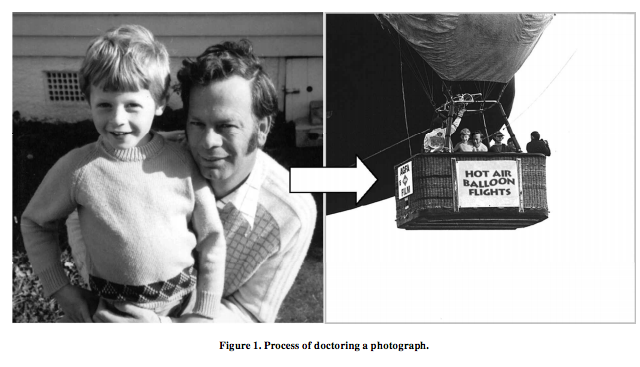 An example of the falsified picture used to implant a false memory.