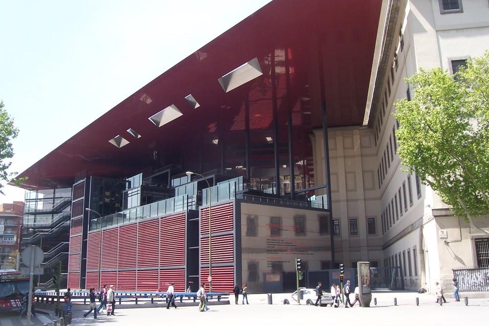 Toit du musée Reina Sofia à Madrid.