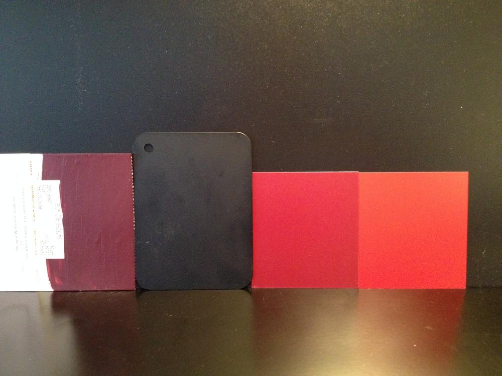 Échantillons montrant des agencements de couleur.