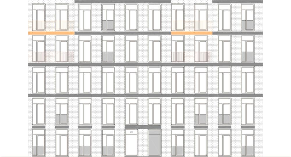 5 étages = densité 3.04