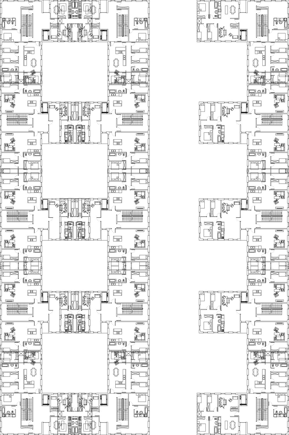 Plan typique d'un étage