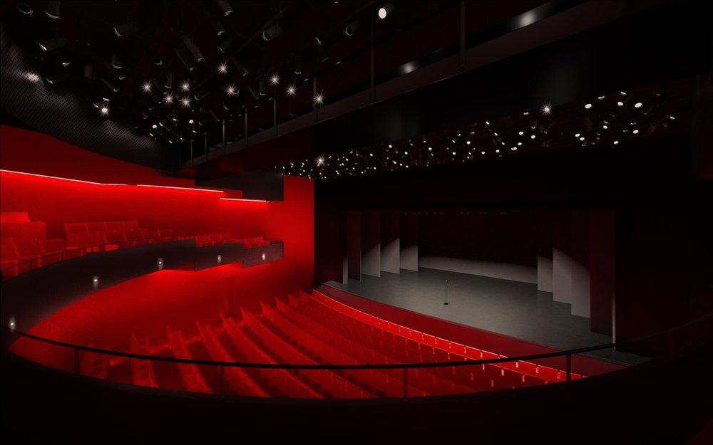Le nouveau balcon en fer à cheval rapproche le public de la scène et crée des places de choix sur les murs de côté