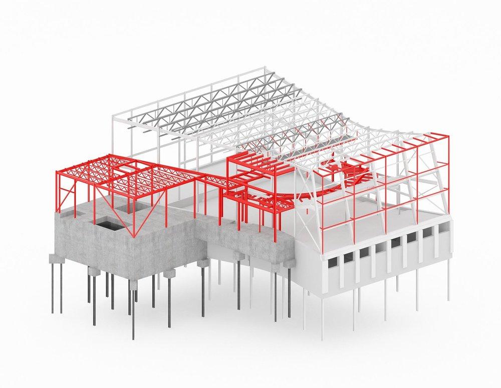Le concept de structure en rouge développé par Latéral