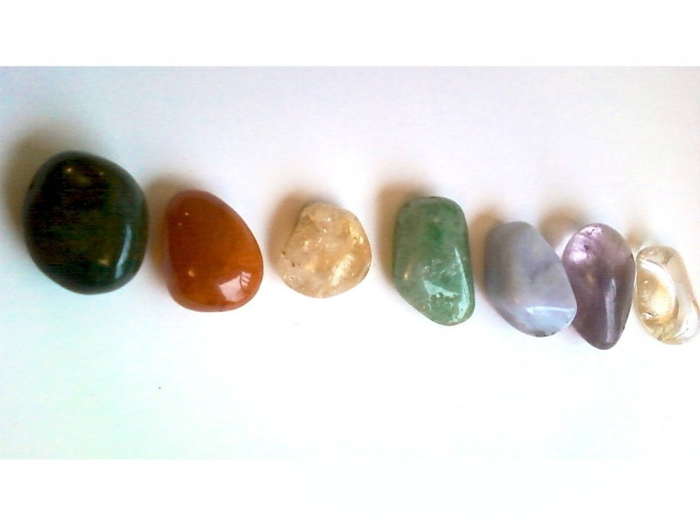 When shopping for crystals, you will often find small rounded inexpensive stones of various colours. If you feel called to it, I suggest buying 7 in different colours and creating a set of chakra alignment crystals, 1 for each of the chakras.