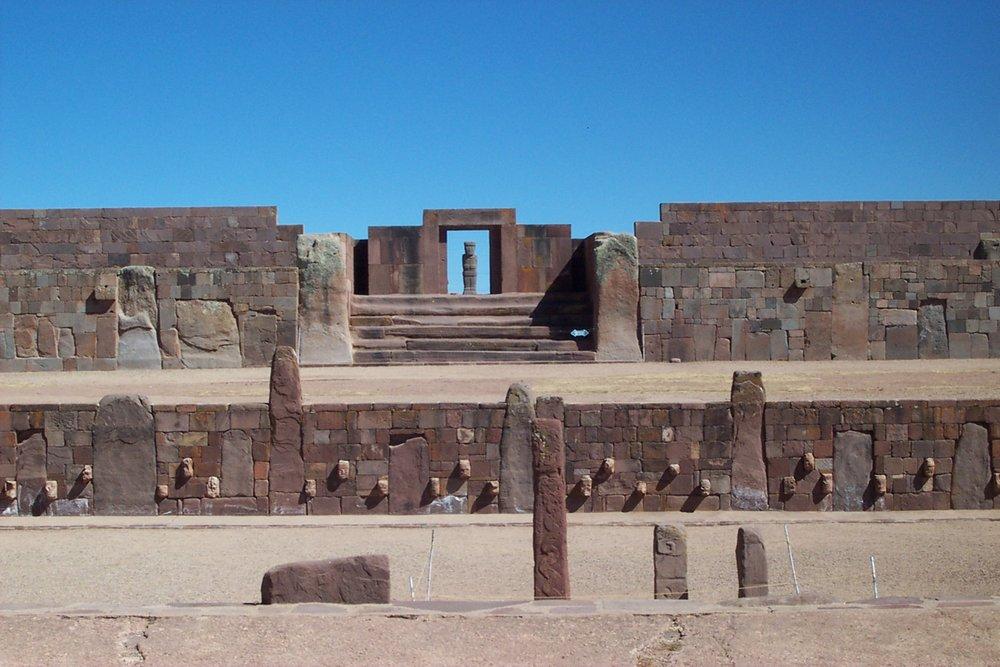Temple of Tiwanaku in Bolivia