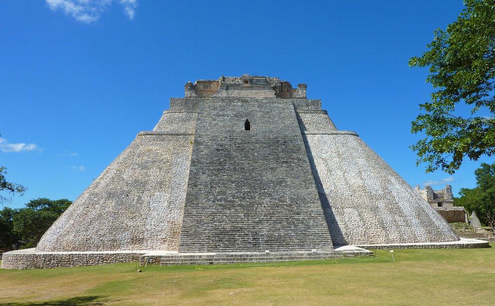 Pyramid of the magician Uxmal, Mexico