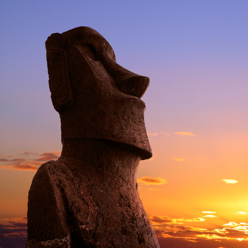 "In Easter island (above) it was believed that the statues moved into the right position using a force called ""Manu"" a collective intention field created by its ""builders""."