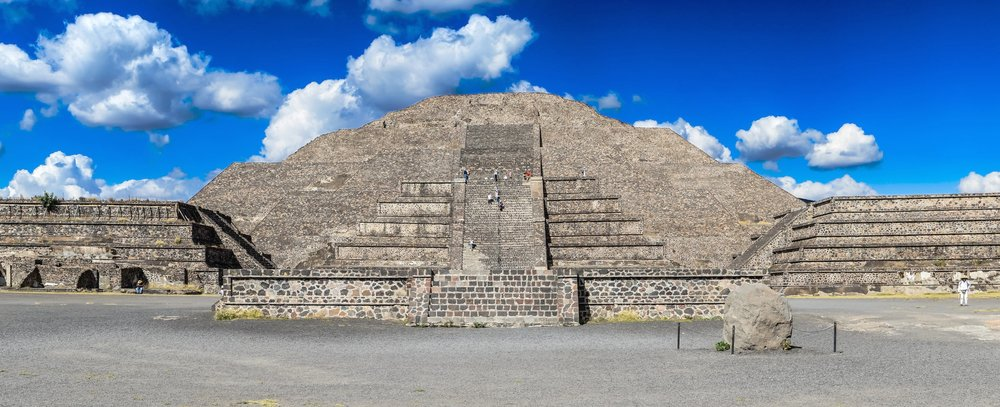 The pre-maya temple of Teotihuacan in north of Mexico City.