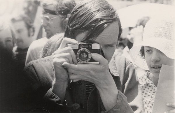 A young Bill Cunningham.    nytimes.com