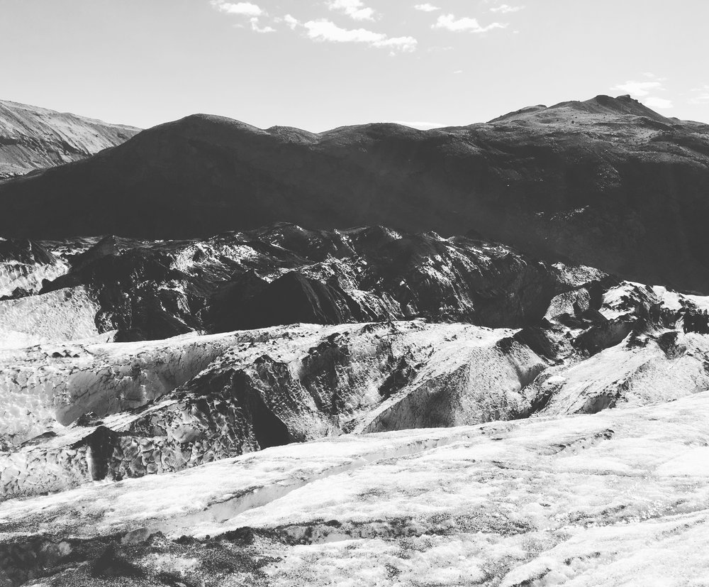Solheimajokull glacier