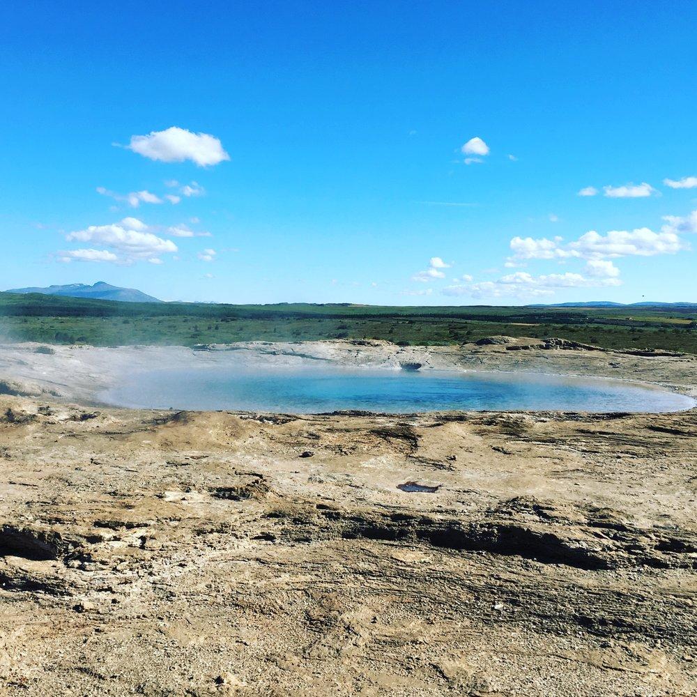 At the Geysir hot springs